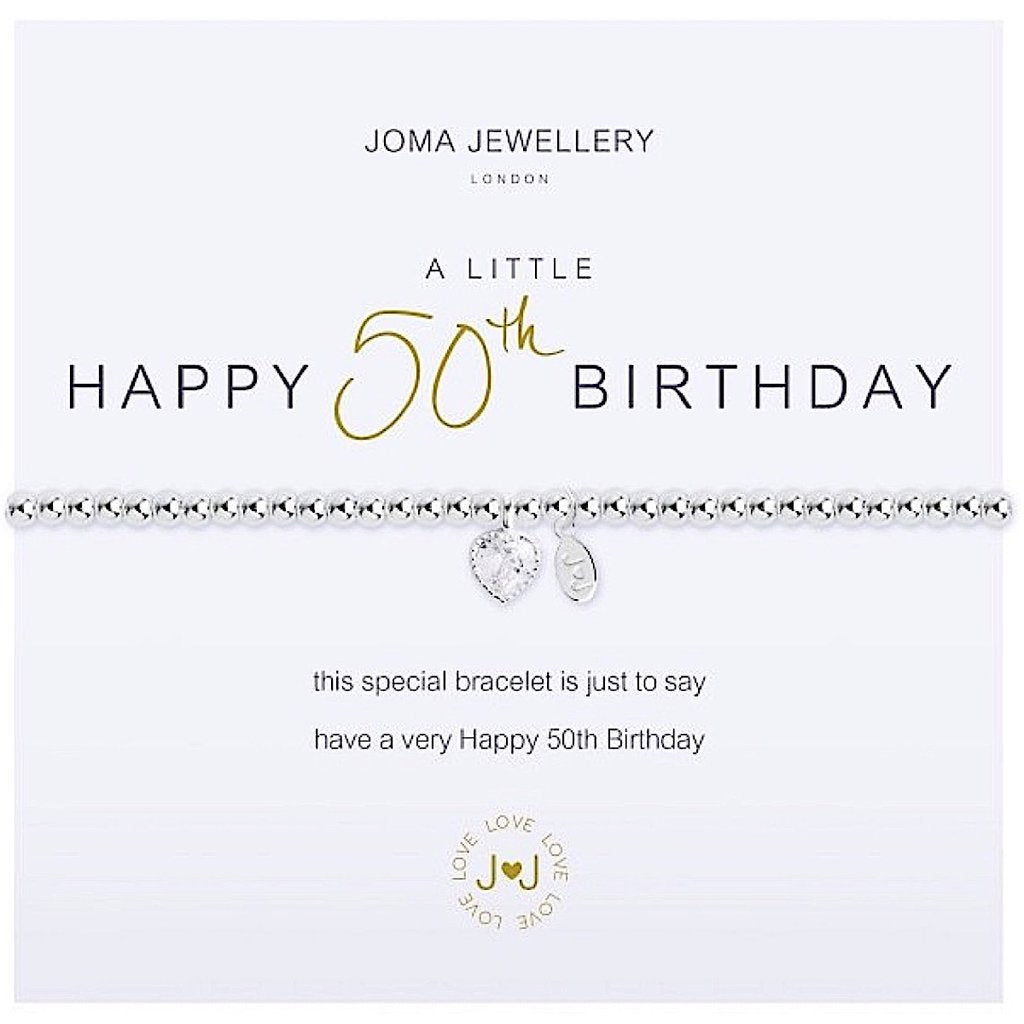 Joma Jewellery A Little Happy 50th Birthday Bracelet