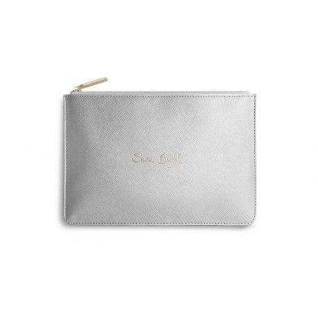 Katie Loxton Perfect Pouch 'Shine Bright' Metallic Silver