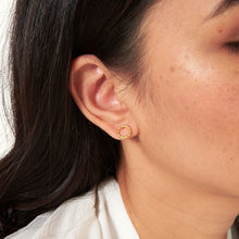 Joma Jewellery Treasure the Little Things Boxed Earrings- Good Karma Gold Pave Circle Studs