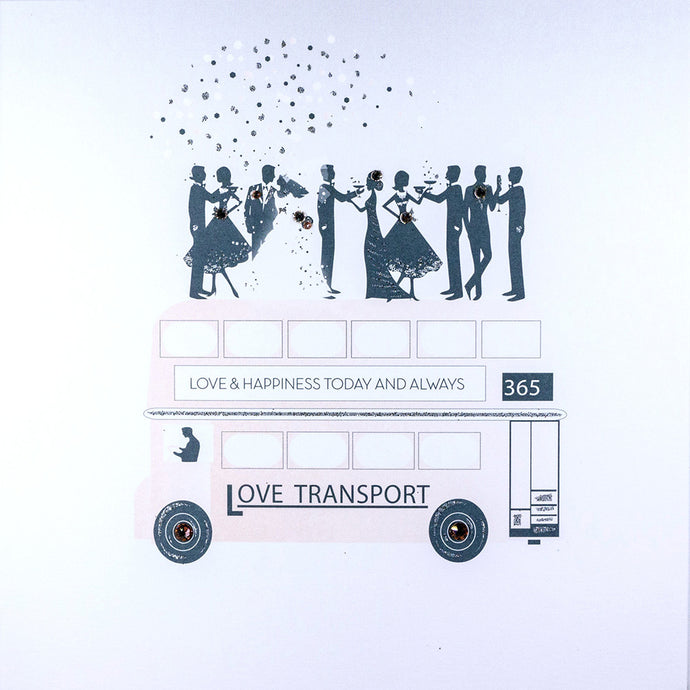 Five Dollar Shake Love Transport Wedding Card