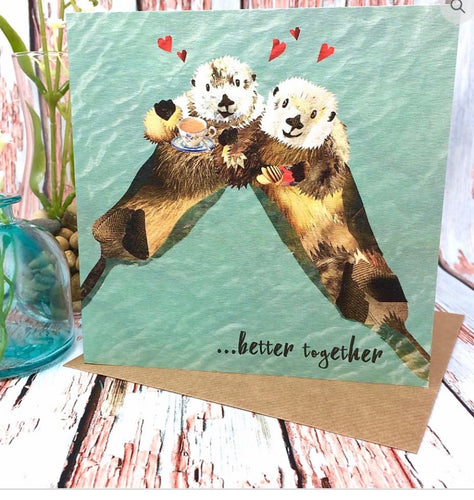 Flying Teaspoon Better Together Blank Card