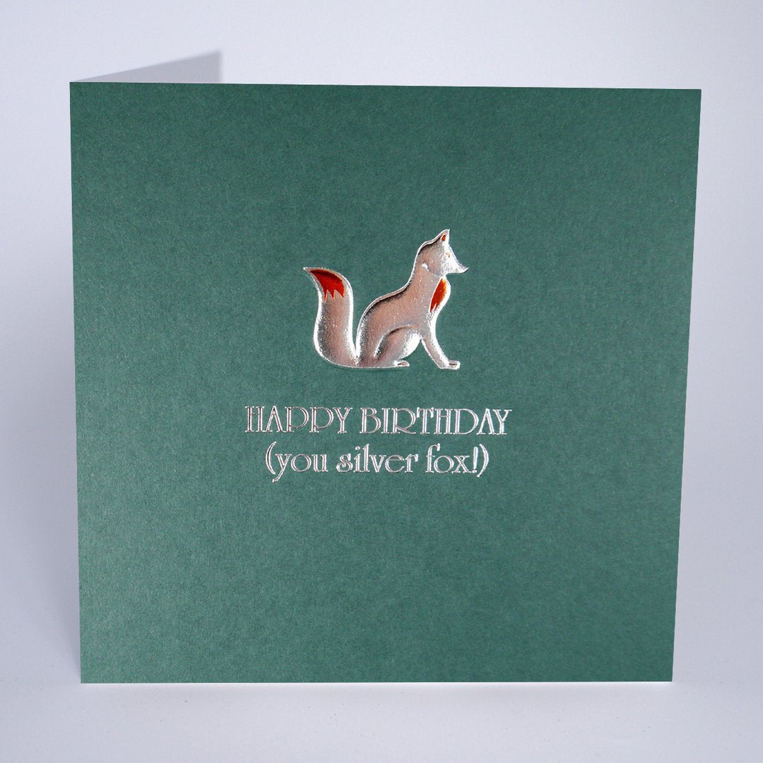 Five Dollar Shake Silver Fox Birthday Card