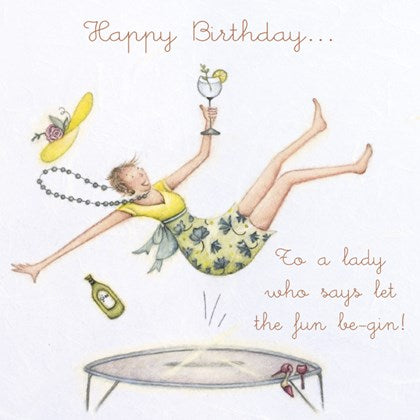 Berni Parker Birthday Card - Let the Fun be Gin