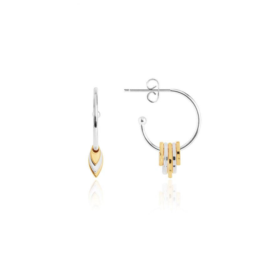 Joma Jewellery Olia Two Tone Hoop Earrings