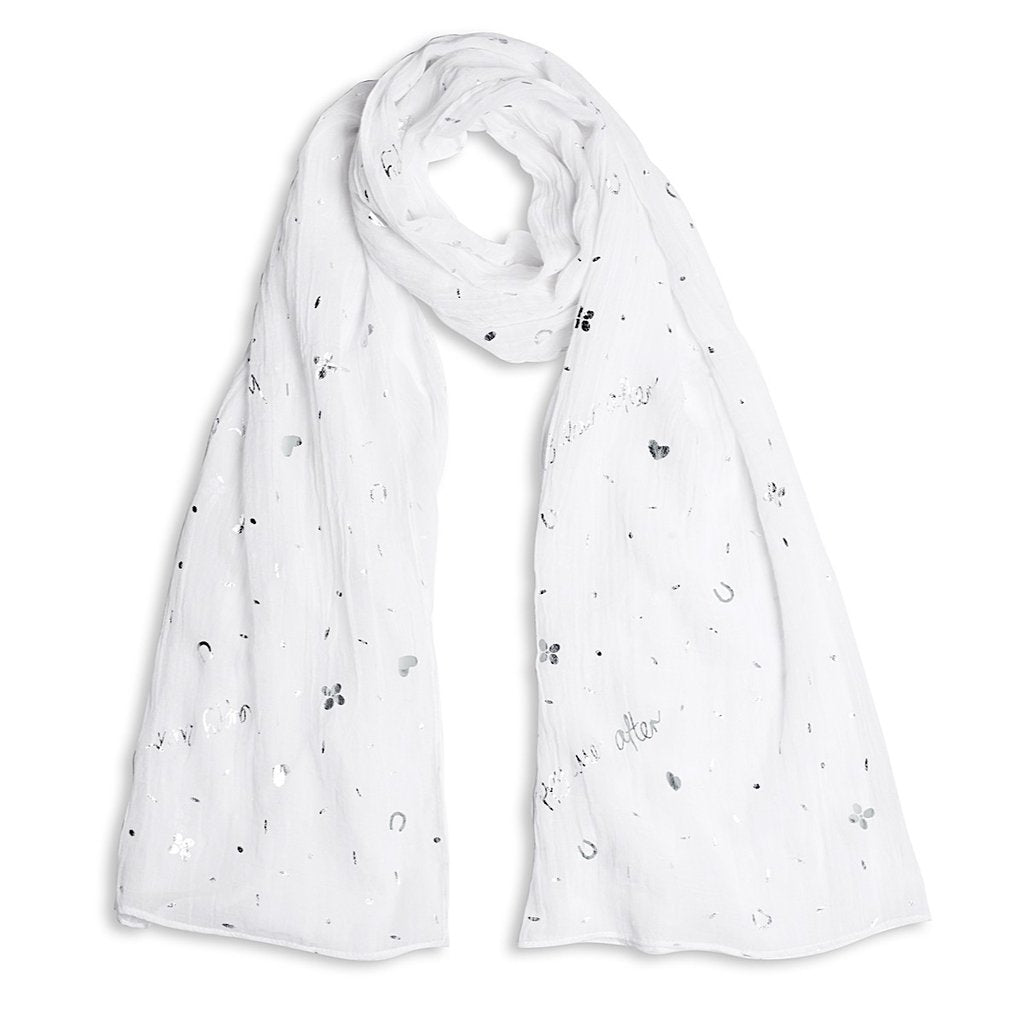 Katie Loxton Happy Ever After Foil Scarf