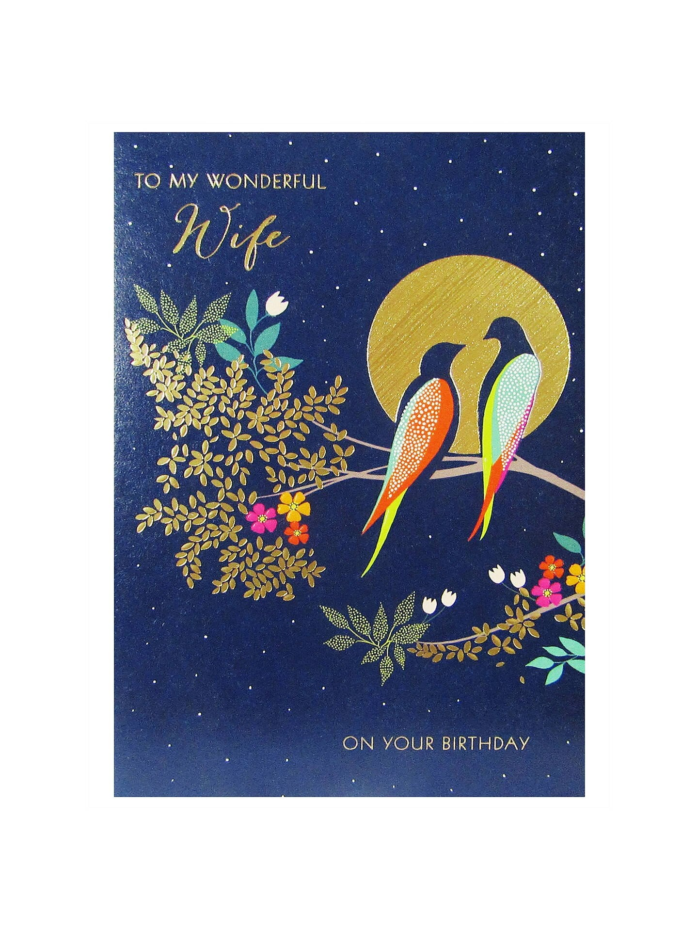 Sara Miller by The Art File - Wonderful Wife Birthday Card