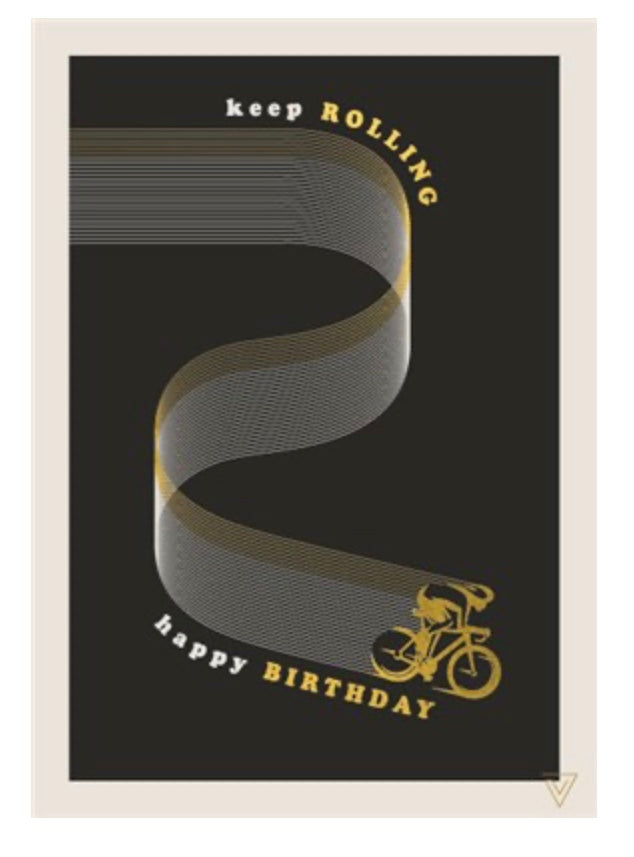 The Art File - Keep Rolling Running Birthday Card