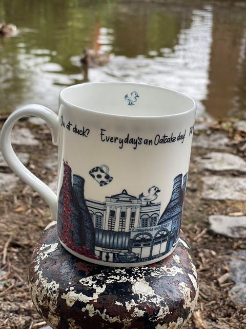 Megan Rose Design The Six Towns of Stoke-on-Trent Mug
