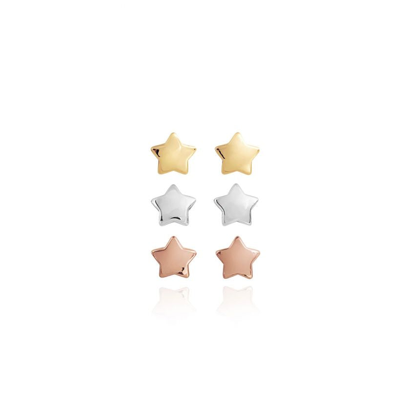 Joma Jewellery Florence Set of 3 Star Stud Earrings