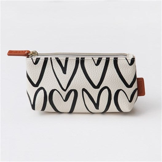 Caroline Gardner Hearts Handbag Cosmetic Bag