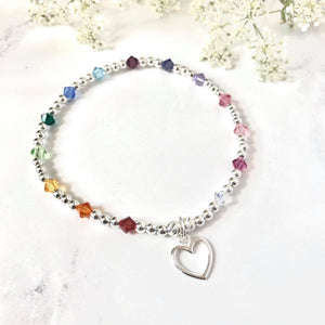 Jolu Jewellery Rainbow Love Bracelet 🌈