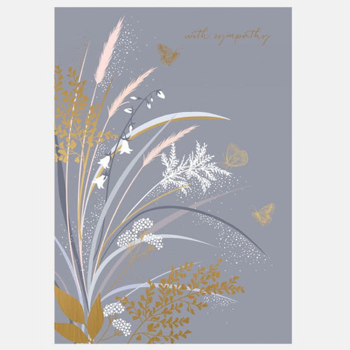 Sara Miller by The Art File - Golden Grass Sympathy Card