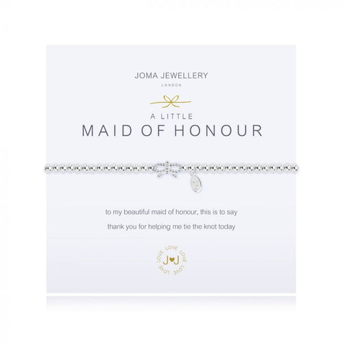 Joma Jewellery A Little Maid of Honour Pave Bow Bracelet