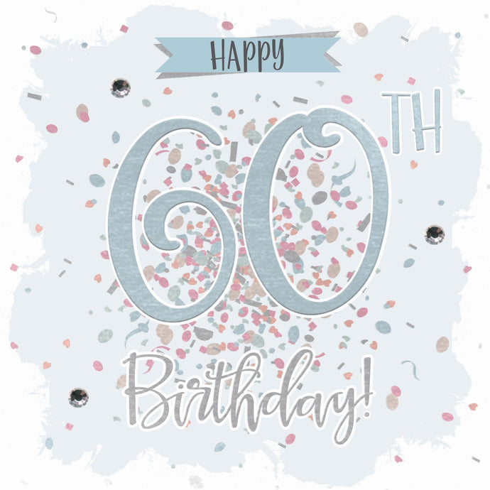 Happy 60th Birthday Confetti Card