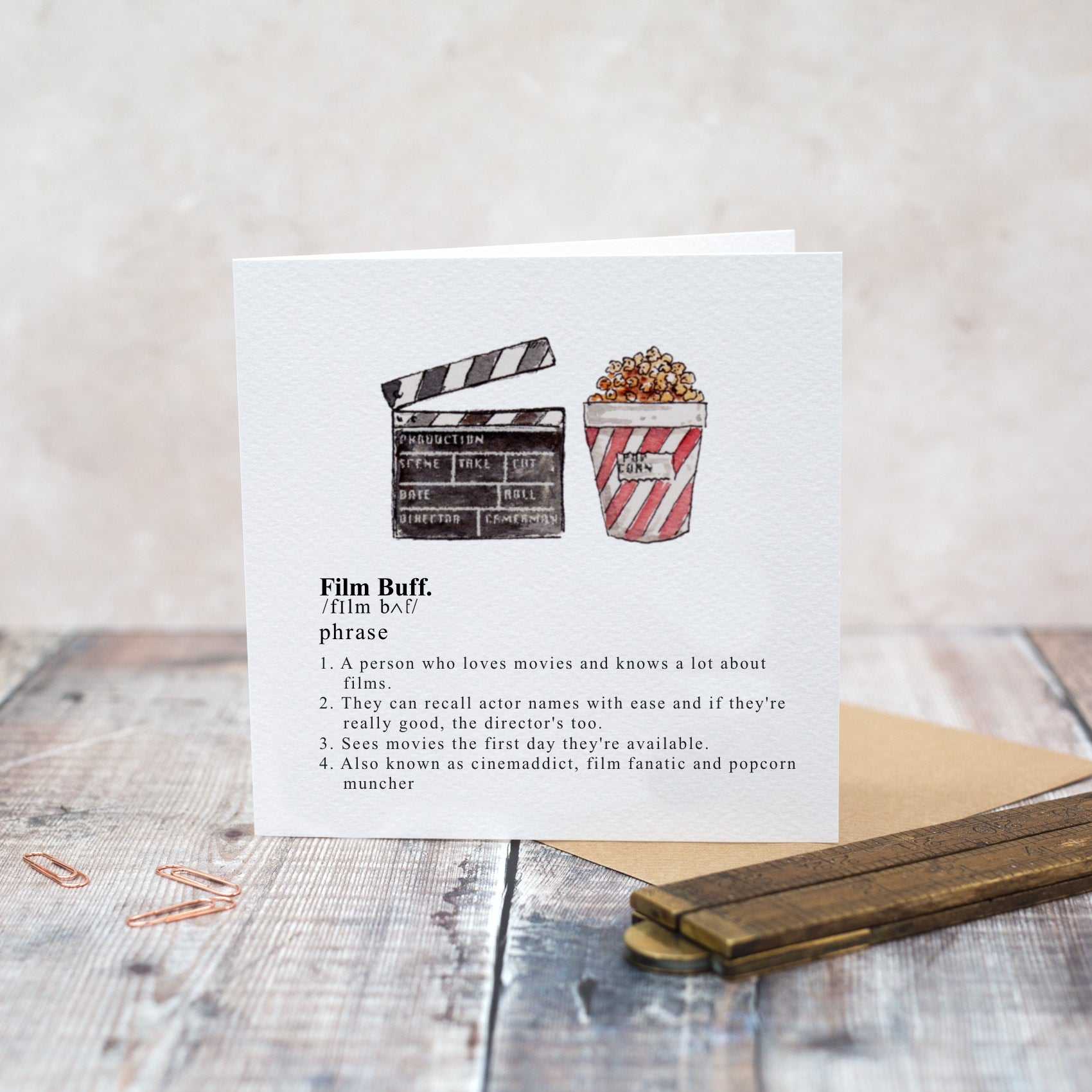 Toasted Crumpet Film Buff Blank Card
