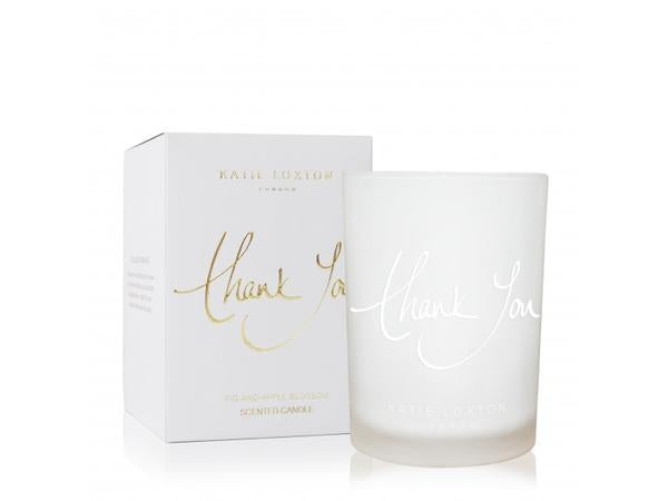Katie Loxton Thank you Sentiment Candle - Fig & Apple Blossom