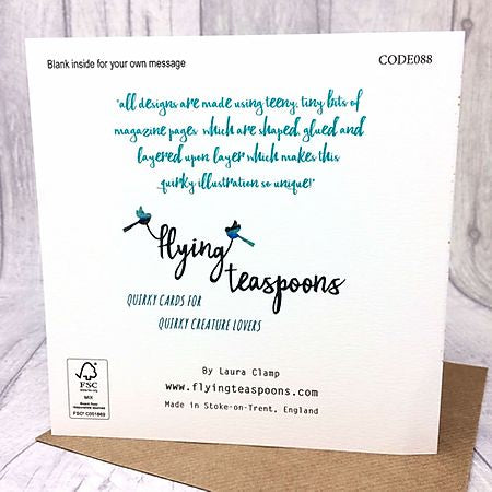 Flying Teaspoons Thinking of You Card