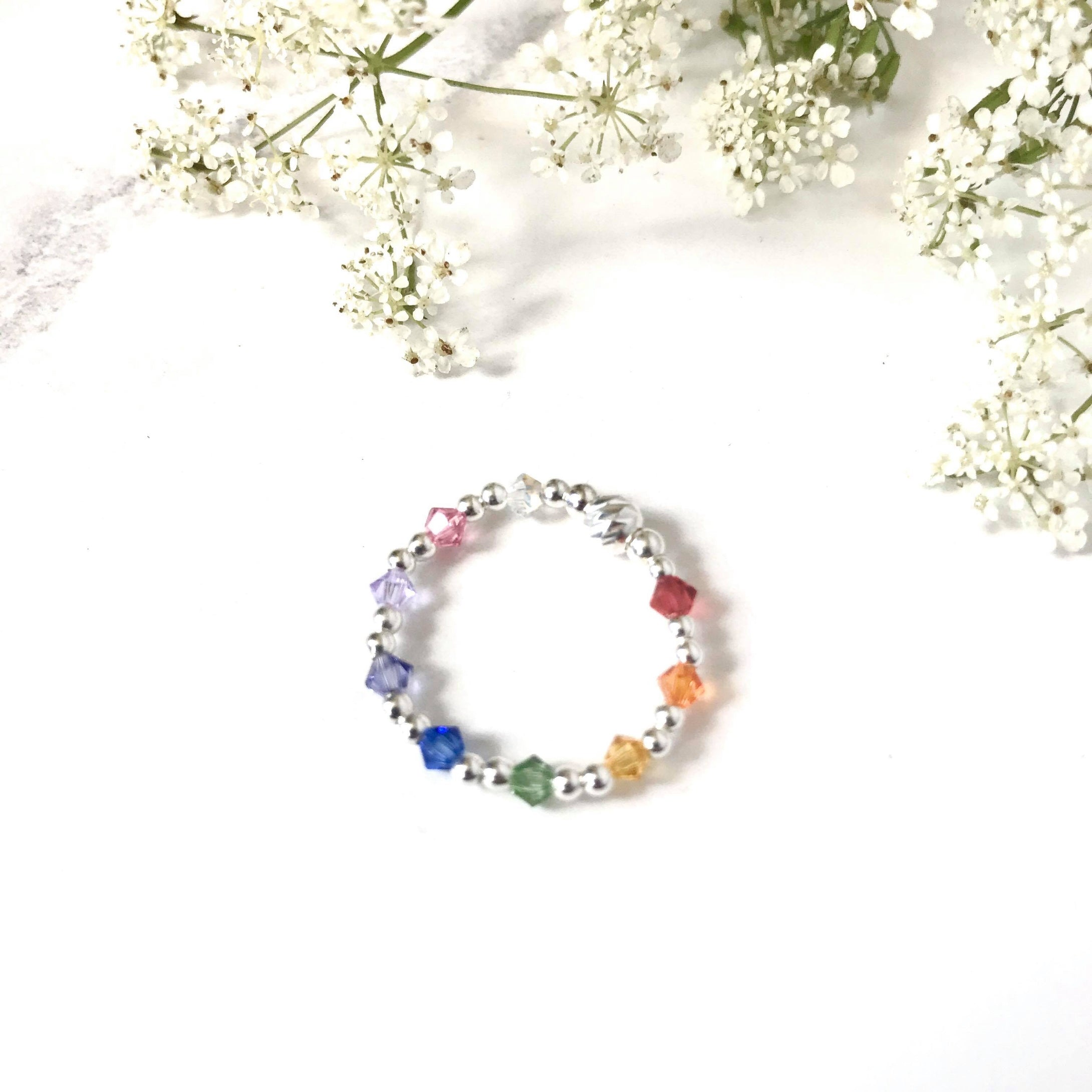 Jolu Jewellery Rainbow Love Kids/Teen Ring 🌈