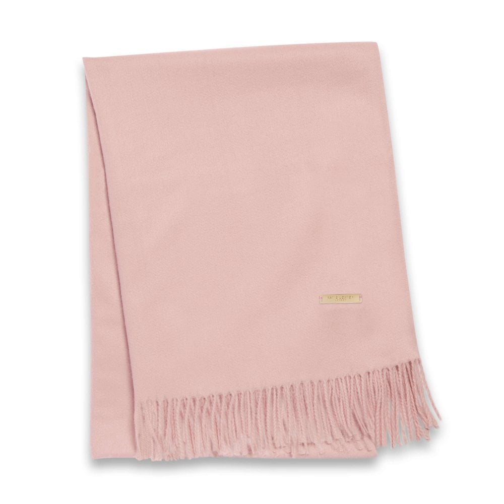 Katie Loxton Thick Plain Boxed Scarf - Blush Pink