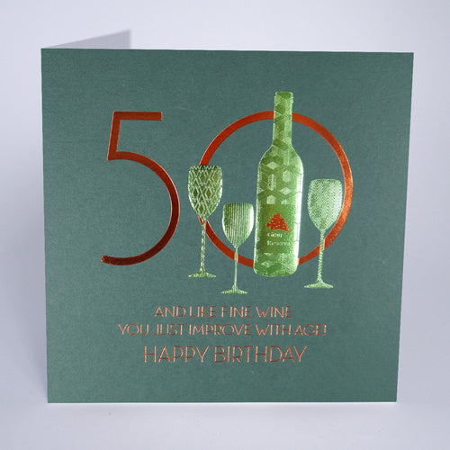 Five Dollar Shake Improve With Age 50th Birthday Card