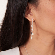 Joma Jewellery Happy Ever After Bridal Jewellery - Pearl & Crystal Leaf Earrings