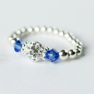 Sapphire (September Birthstone) Silver Stretch Ring
