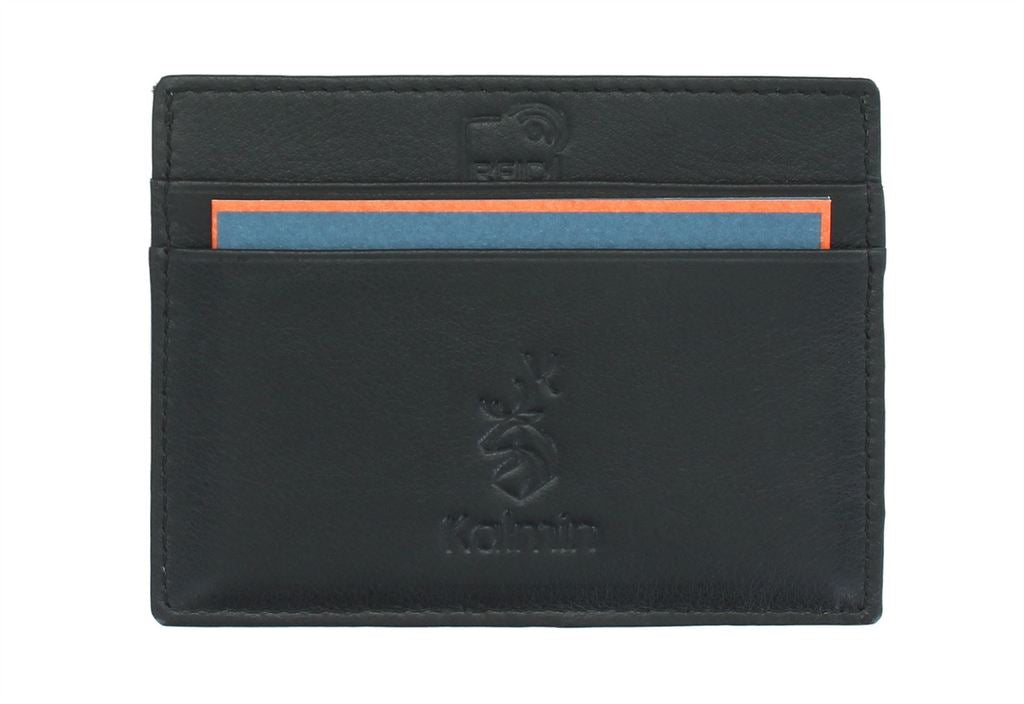 Mala Leather Kalmin Football Card Wallet with RFID Protection (637 4) - Black