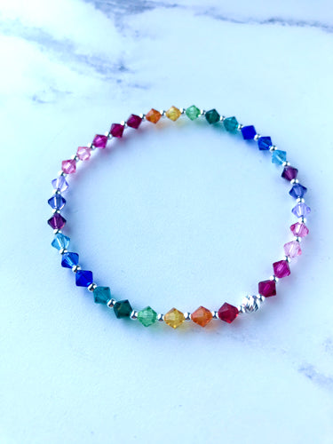 Jolu Jewellery Rainbow Positivity Kids/Teen Bracelet 🌈