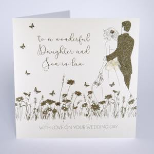 Five Dollar Shake LARGE Wonderful Daughter & Son-in-Law Wedding Day Card