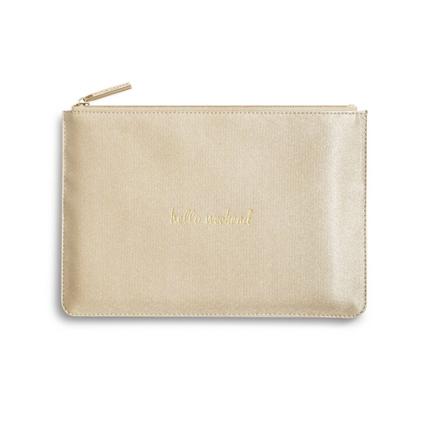 Katie Loxton Perfect Pouch - Hello Weekend - Shiny Gold