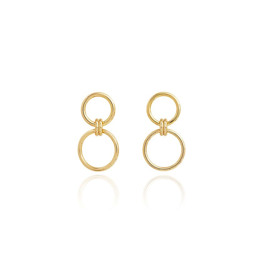 Joma Jewellery Linked Hoop Earrings Gold