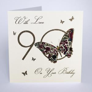 Five Dollar Shake 90th Birthday Card - Butterfly
