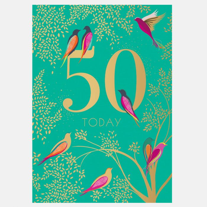 Sara Miller by The Art File - 50th Birthday Card