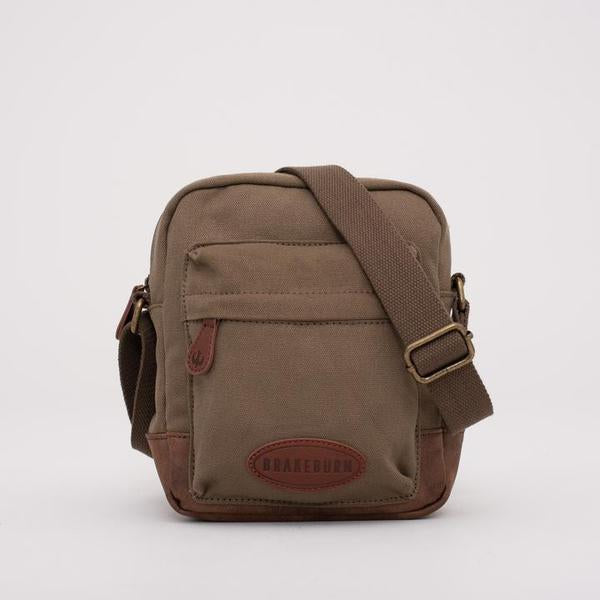 Brakeburn Mens Crossbody Bag Khaki