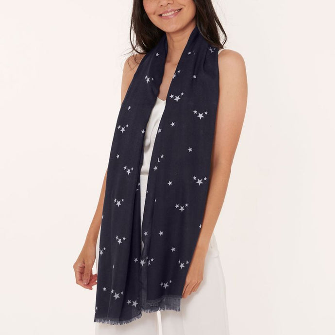 Katie Loxton Wrapped Up in Love Boxed Scarf - One in a Million - Navy