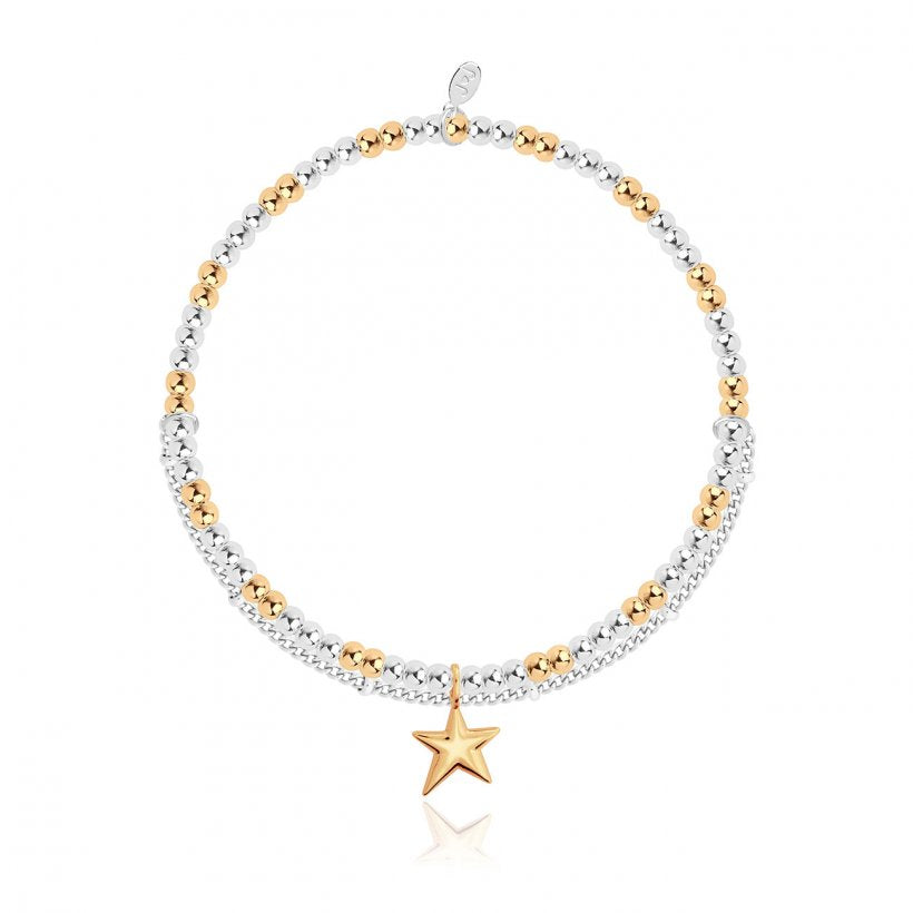 Joma Jewellery Amulet Gold Star Double Bracelet