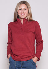Brakeburn 1/4 Zip Sweat - Red