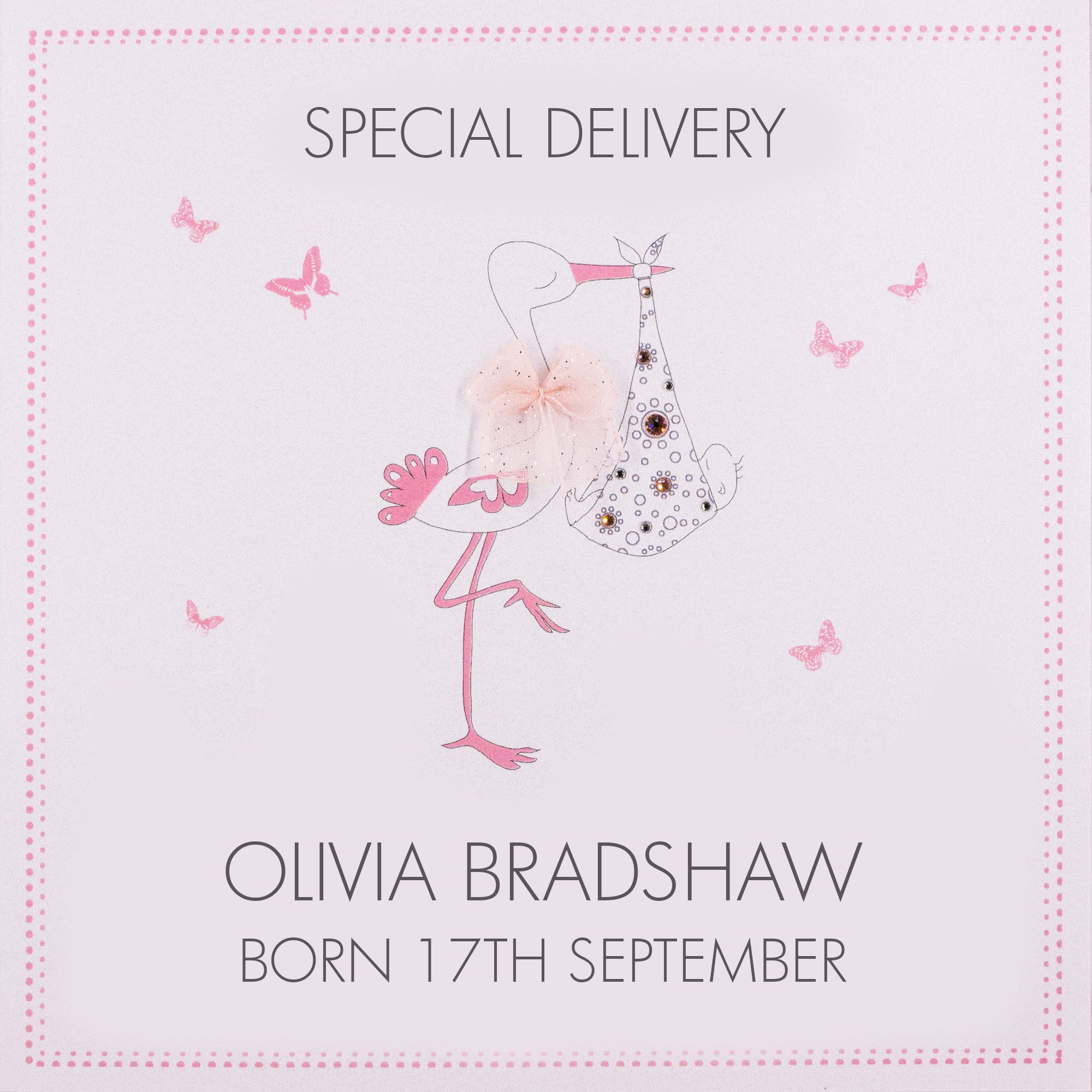 Personalised Baby Card (PCBG3) Five Dollar Shake