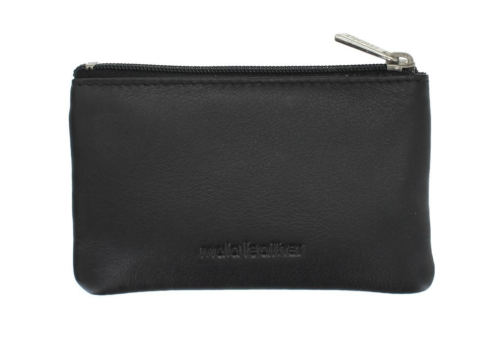 Mala Leather Origin Small Flap Coin Purse with RFID Protection (4110 5) - Black