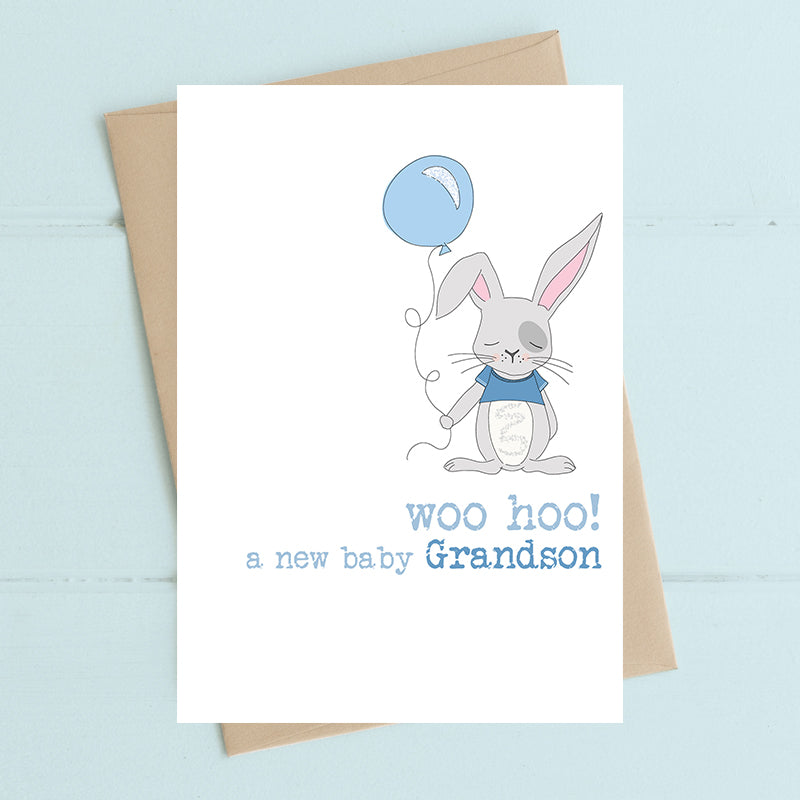 Dandelion Stationery - Grandson Woo-Hoo Card