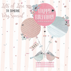 The Handcrafted Card Company Someone Very Special Balloon Birthday Card