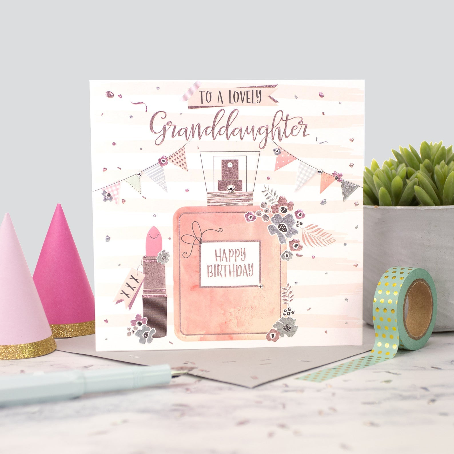 The Handcrafted Card Company Granddaughter Perfume Birthday Card