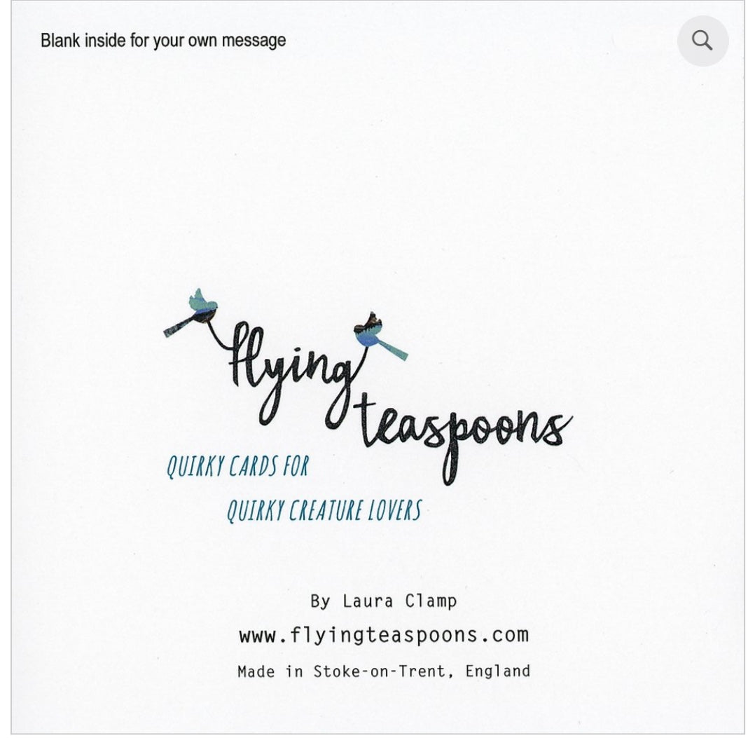 Flying Teaspoons Cost kick a bo Blank Card
