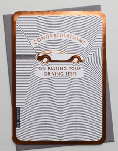 The Art File - Driving Test Congratulations Card
