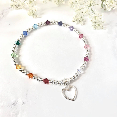 Jolu Jewellery Rainbow Love Kids/Teen Bracelet 🌈