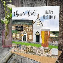Flying Teaspoon Cheers Dad Fathers Day Card