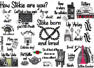 Megan Rose Design How Stokie Are You A4 Mounted Print