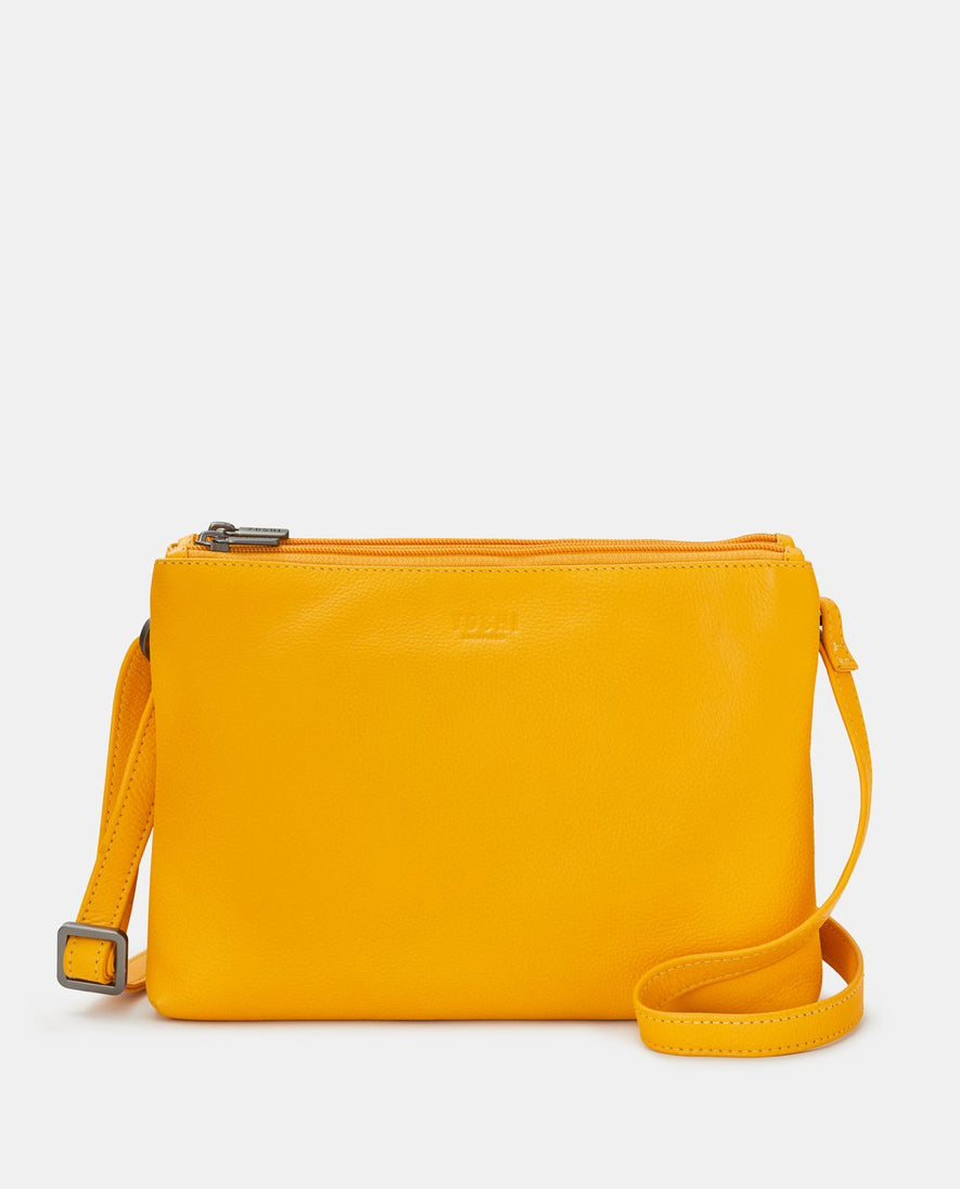 Yoshi Miller Leather Crossbody Bag - Mustard