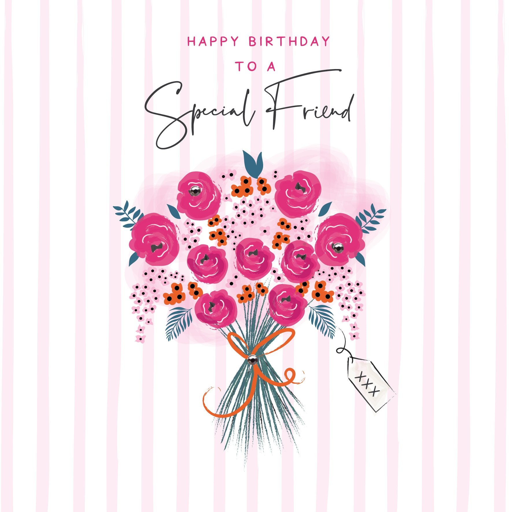 Special Friend Bouquet Birthday Card