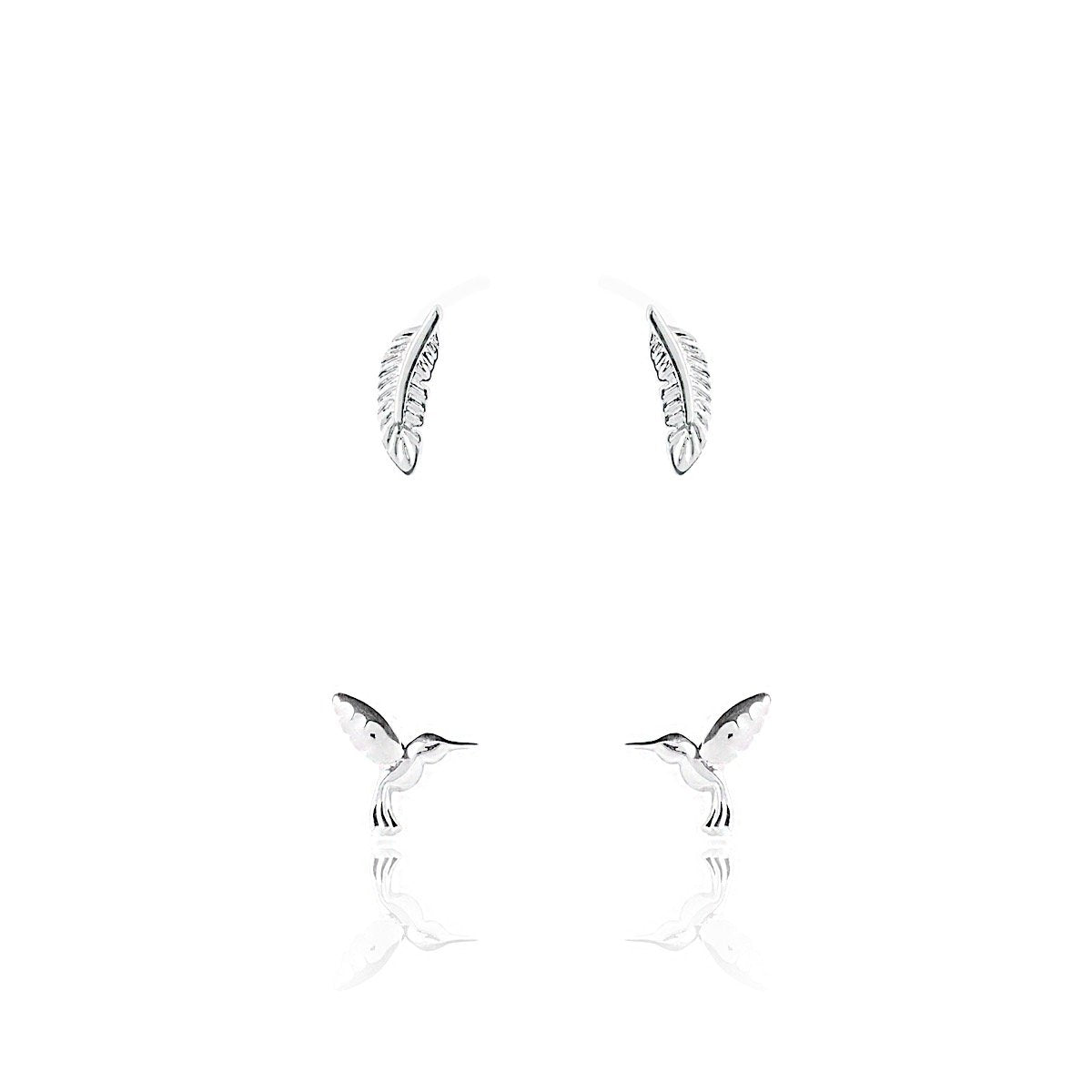 Joma Jewellery Feather & Bird Earring Set